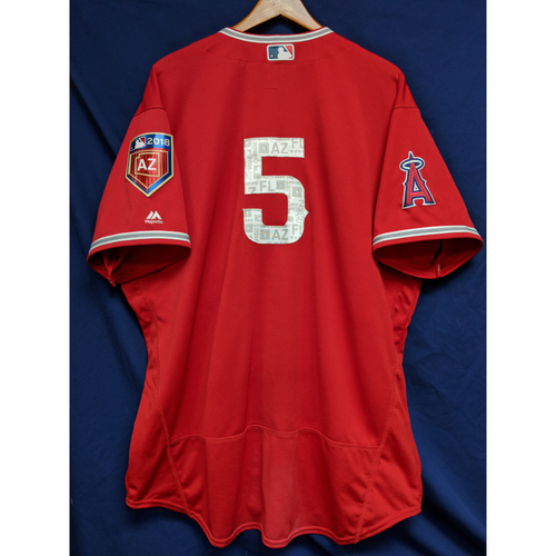 Photo of Albert Pujols Game-Used 2018 Spring Training Jersey