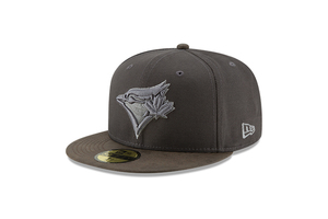 Toronto Blue Jays Sueded Up Dark Grey Cap by New Era