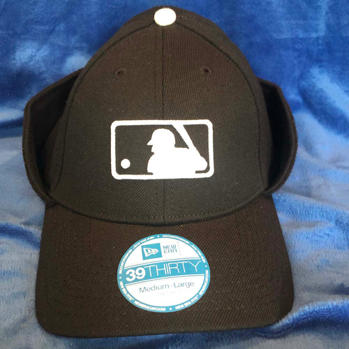 UMPS CARE AUCTION: MLB Cold-Weather Umpire Caps with Flaps, Size M/L