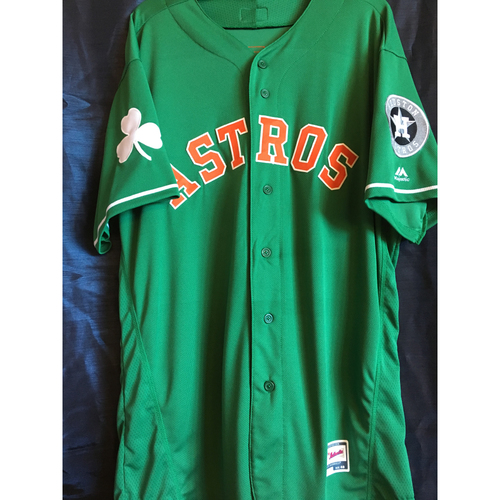 Photo of Brad Peacock 2019 Team-Issued St. Patrick's Day Jersey (Size 48)