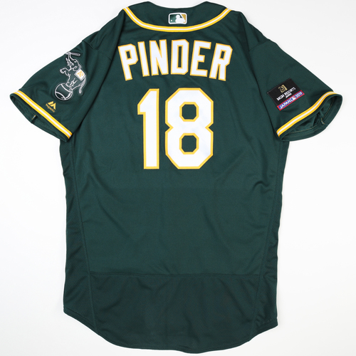 Photo of 2019 Japan Opening Day Series - Game Used Jersey - Chad Pinder, Oakland Athletics at Nippon Ham Fighters -3/17/2019