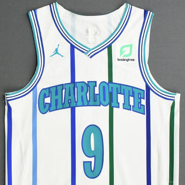 Charlotte Hornets #9 Tony Parker Icon Teal Swingman Jersey