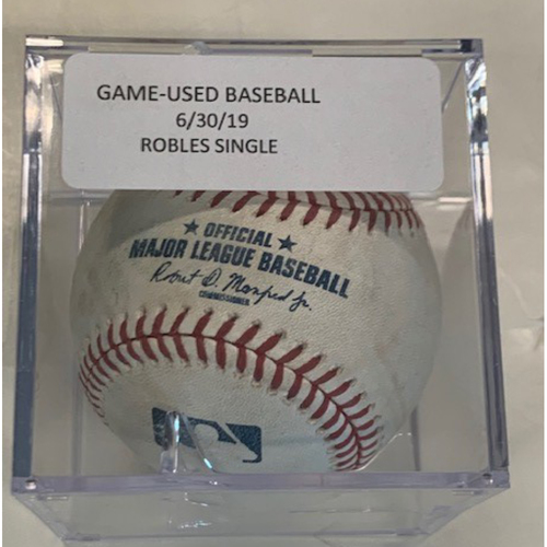 Game-Used Baseball: Victor Robles Single