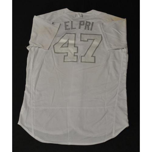 "Photo of Harold ""EL PRI"" Ramirez Miami Marlins Game-Used 2019 Players' Weekend Jersey"