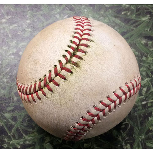 Photo of Game-Used Baseball SD@MIL 09/19/19 - Joey Lucchesi - Ryan Braun: RBI Double