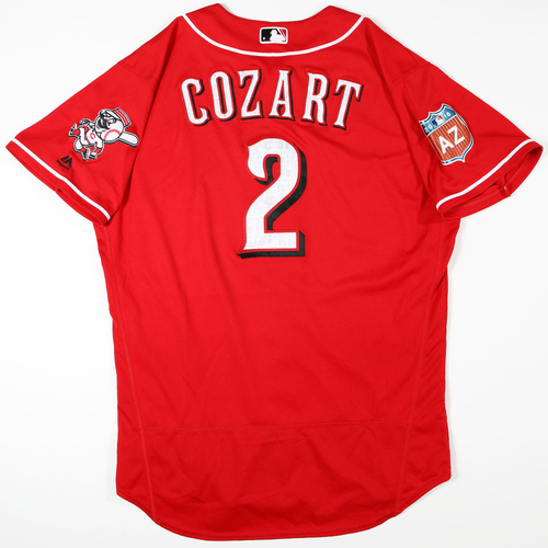 Photo of 2016 Spring Training - Spring Training Game Used Jersey - Zack Cozart (Reds)- Size- 48