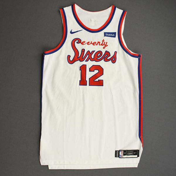 Image of Tobias Harris - Philadelphia 76ers - Game-Worn Classic Edition 1970-71 Home Jersey - Scored a Team-High 26 Points - 2019-20 Season