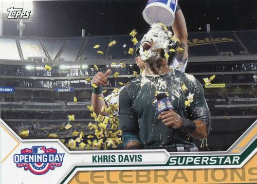 Photo of 2017 Topps Opening Day Superstar Celebrations #SC2 Khris Davis