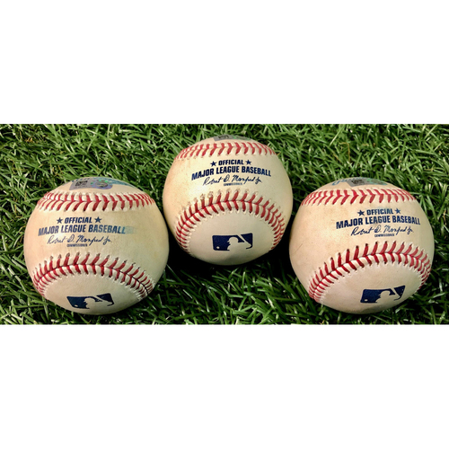 Photo of Game Used Baseball Package: Mike Zunino, Yandy Diaz and Joey Wendle - August 24, 2020 v TOR