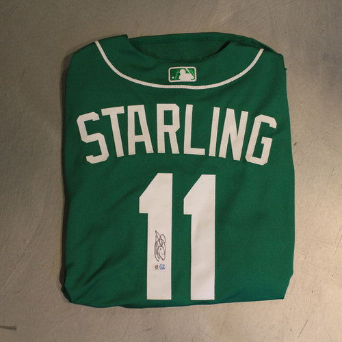 Photo of Autographed 2020 St. Patrick's Day Jersey: Bubba Starling #11 (Size 48)