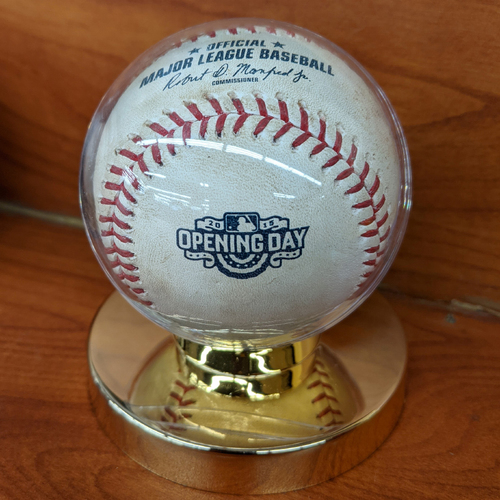 Photo of April 6, 2015 Red Sox at Phillies Opening Day Game Used Baseball - Cole Hamels to Hanley Ramirez - Pitch in Dirt