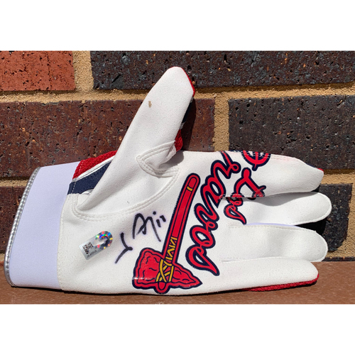 Photo of Johan Camargo MLB Authenticated and Autographed Los Bravos Batting Glove