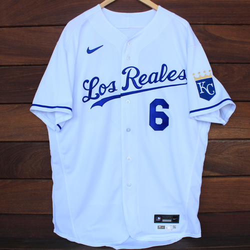 Photo of Game-Used Los Reales Jersey: Pedro Grifol #6 (SEA@KC 9/17/21) - Size 48