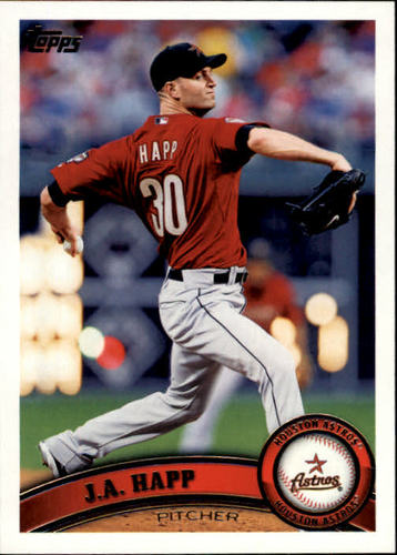 Photo of 2011 Topps #499 J.A. Happ