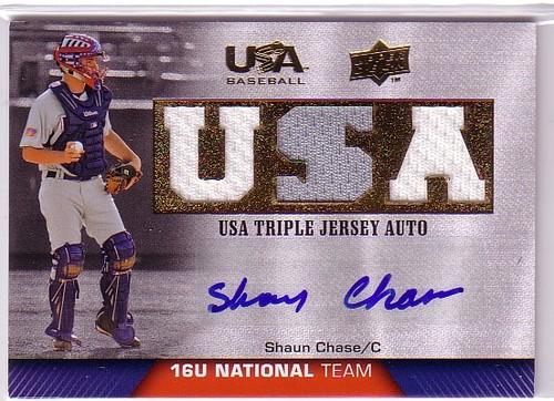 Photo of 2009-10 USA Baseball 16U National Team Jersey Autographs #SC Shaun Chase