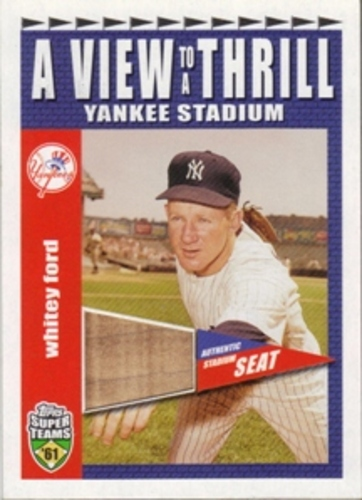 Photo of 2002 Topps Super Teams A View To A Thrill Relics #VTWF Whitey Ford 1