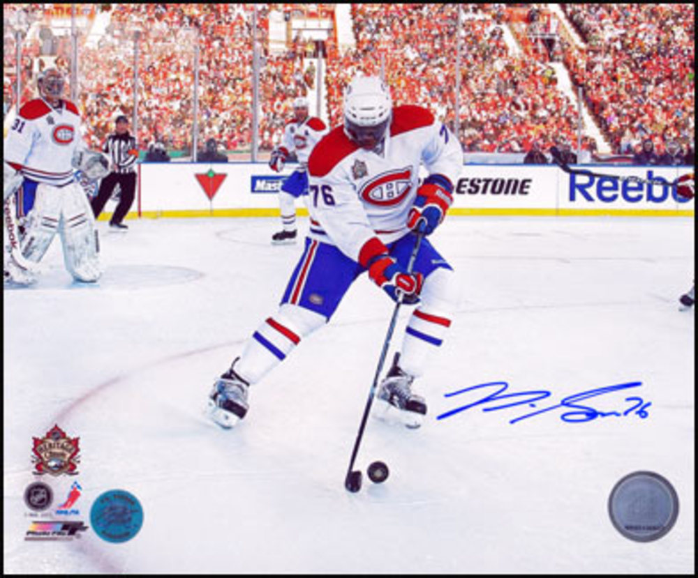 P.K. SUBBAN Montreal Canadiens SIGNED 2011 Heritage Classic 8x10 Photo