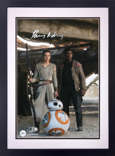 Daisy Ridley as Rey at the Niima Outpost Autographed in Silver Ink 16x20 Framed Photo