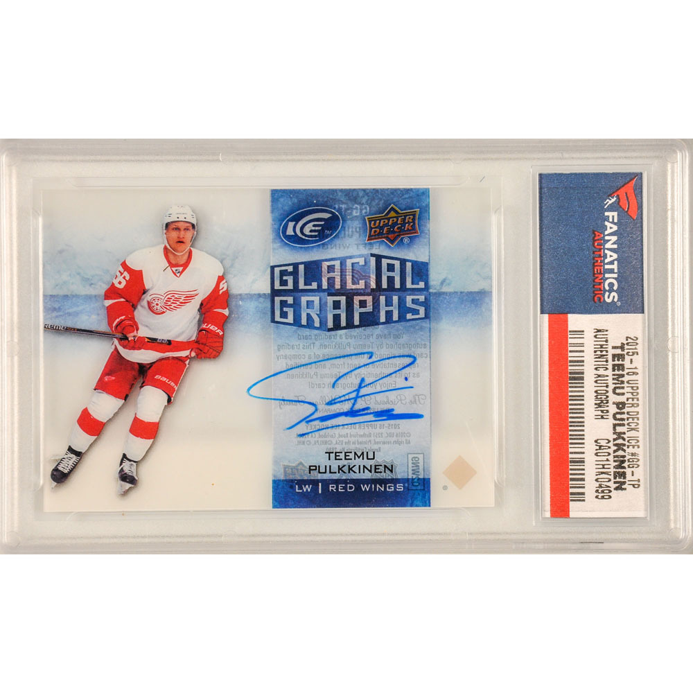 Teemu Pulkkinen Detroit Red Wings Autographed 2015-16 Upper Deck Ice #GG-TP Card Pack Pulled