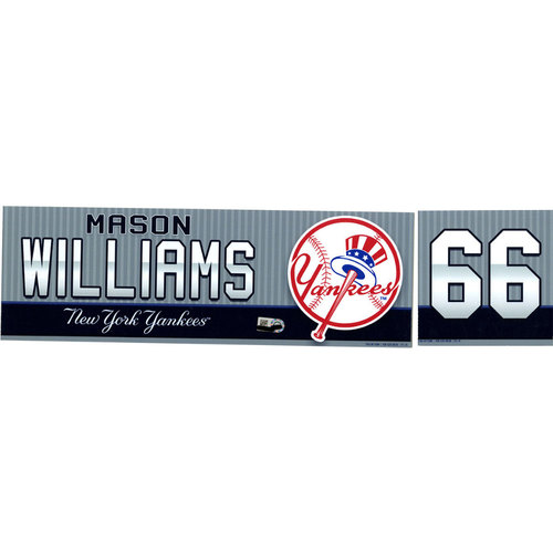 Mason Williams New York Yankees 2016 Game-Used #66 Locker Nameplate (10/02/2016) (Name and Number Separate)