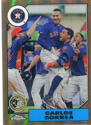 Photo of 2017 Topps Chrome '87 Topps #87T10 Carlos Correa -- Astros ALCS roster