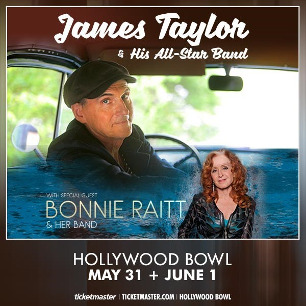 Click to view James Taylor and Bonnie Raitt Concert Tickets.