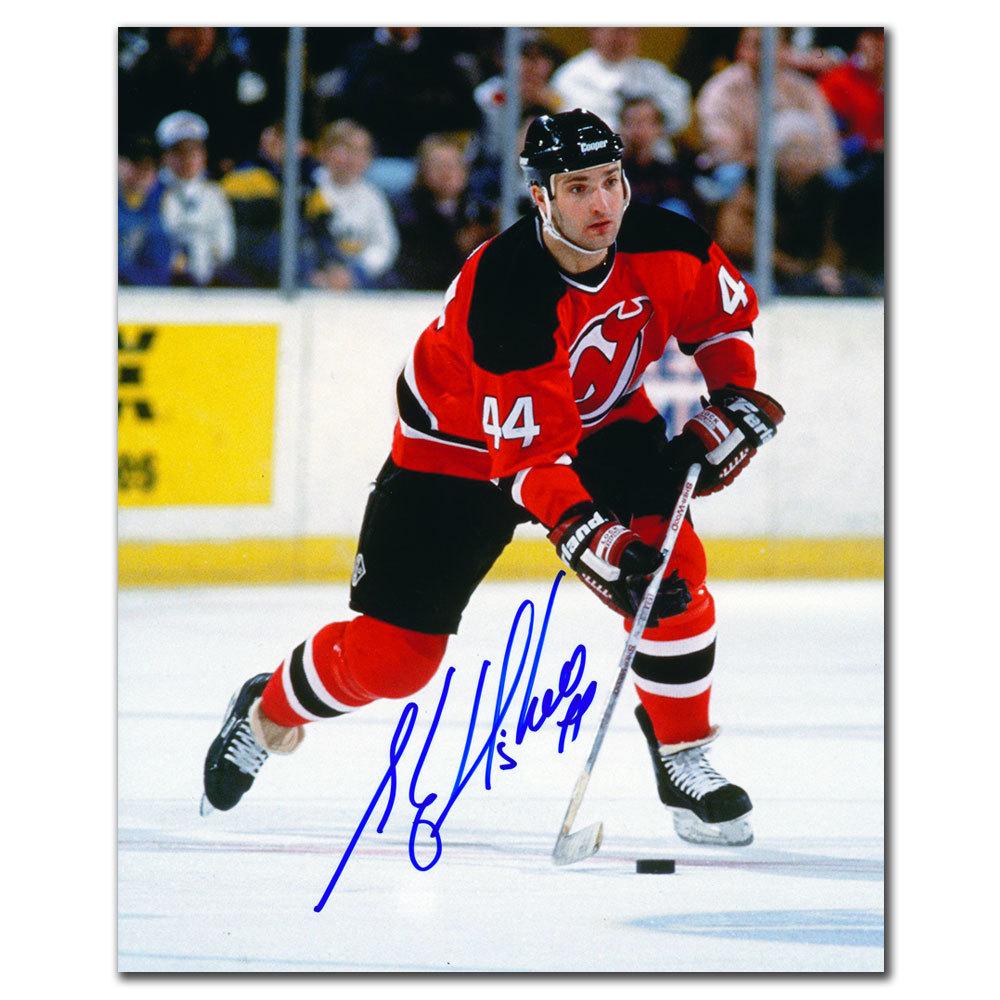 Stephane Richer New Jersey Devils PLAYMAKER Autographed 8x10