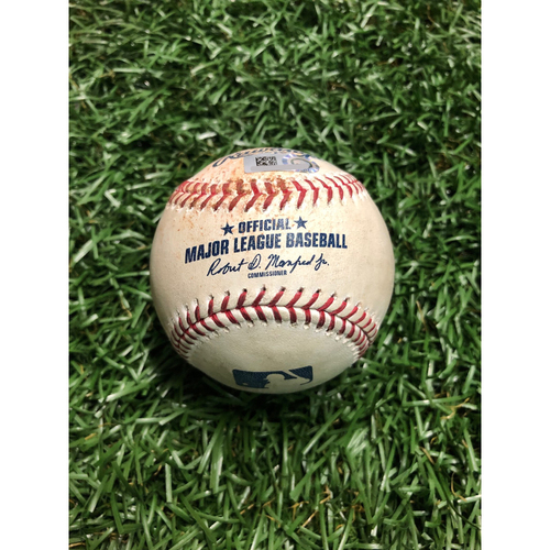Photo of Game Used Baseball: Charlie Morton strikes out Chance Sisco and Anthony Santander - July 2, 2019 v BAL