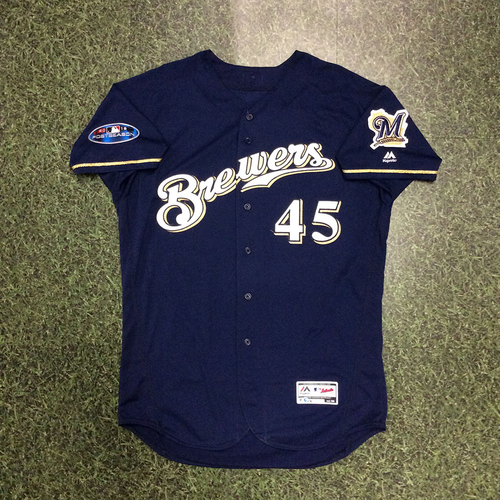Jhoulys Chacin 2018 Game-Used Postseason Jersey - NLDS Game 2