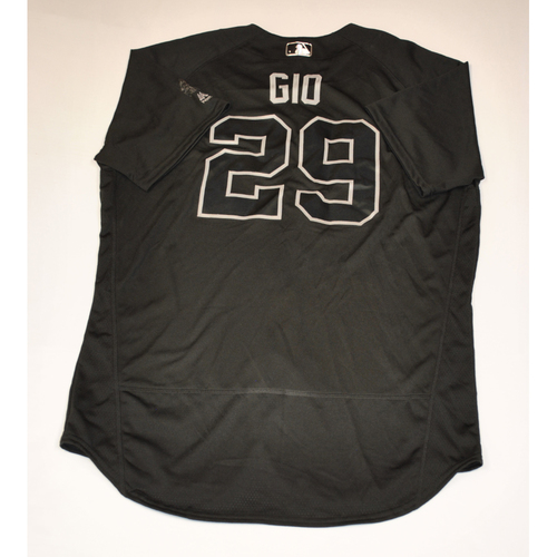 "Photo of Gio ""GIO"" Urshela New York Yankees Game-Used 2019 Players' Weekend Jersey"