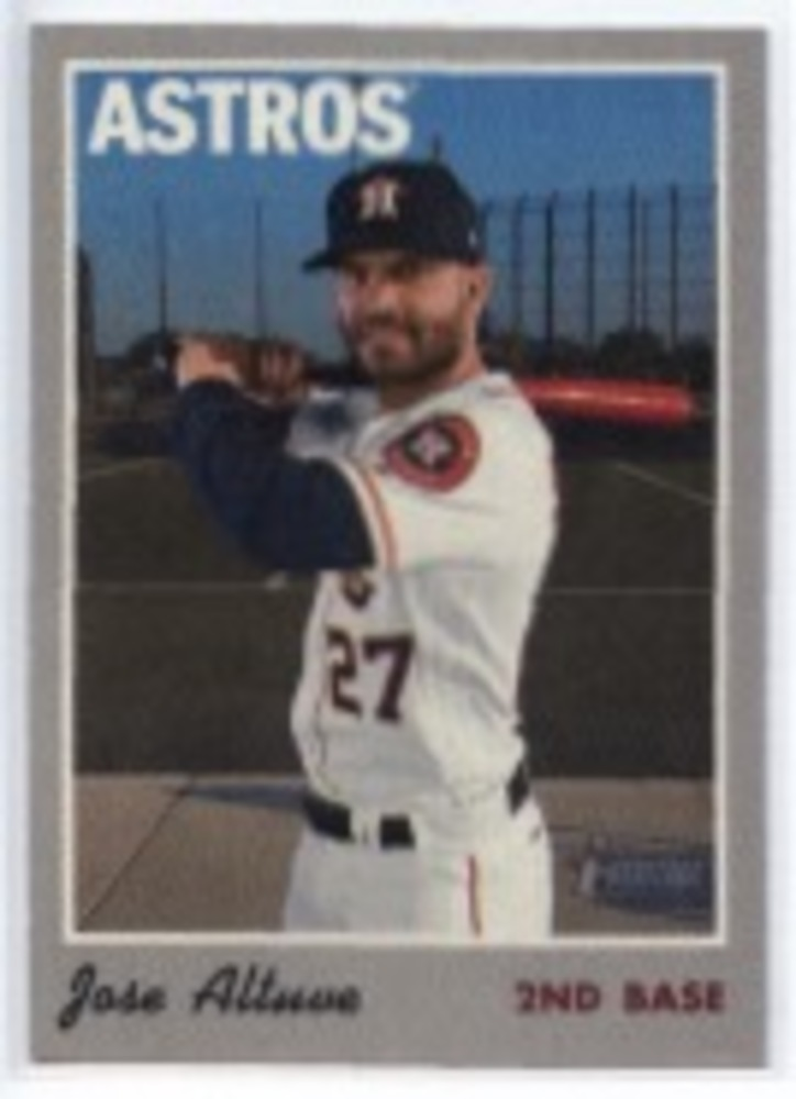2019 Topps Heritage '70 Topps Stickers #27 Jose Altuve