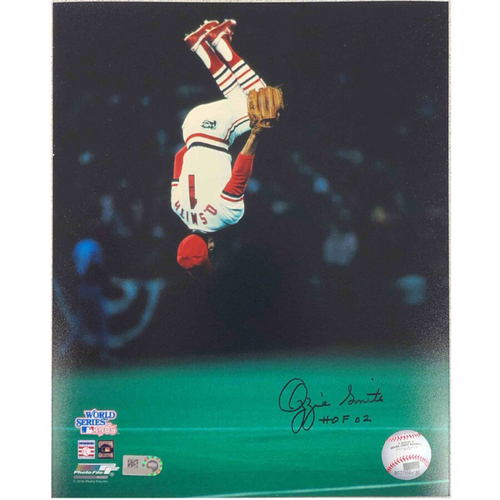 Photo of Cardinals Authentics: St. Louis Cardinals Ozzie Smith '85 WS Flip Autographed Photo