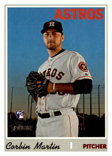 Photo of 2019 Topps Heritage #595 Corbin Martin RC