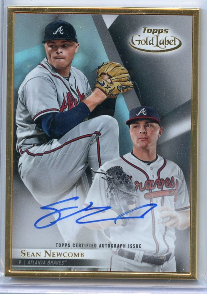 2018 Topps Gold Label Framed Autographs #FASN Sean Newcomb