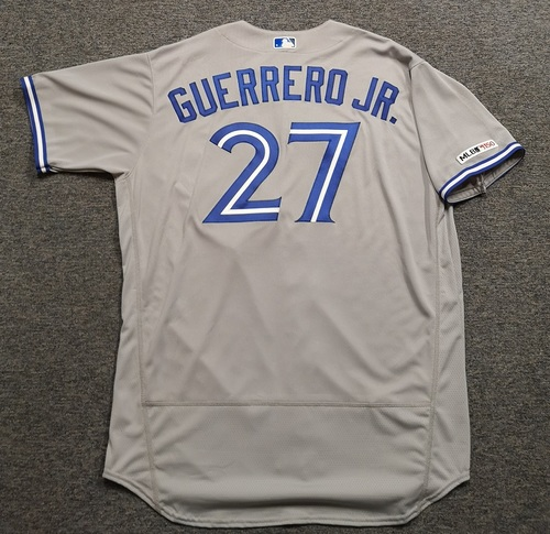 Photo of Authenticated Team Issued 2019 Jersey - #27 Vladimir Guerrero Jr. Size 52.