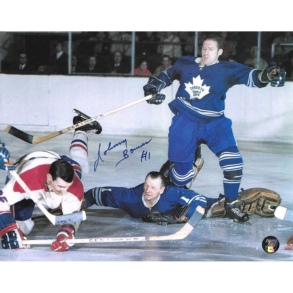 Johnny Bower Autographed Toronto Maple Leafs 8X10 Photo