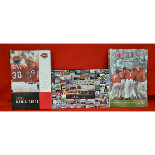 Photo of Cincinnati Reds Media Guide Collection: 2002, 2005, 2010
