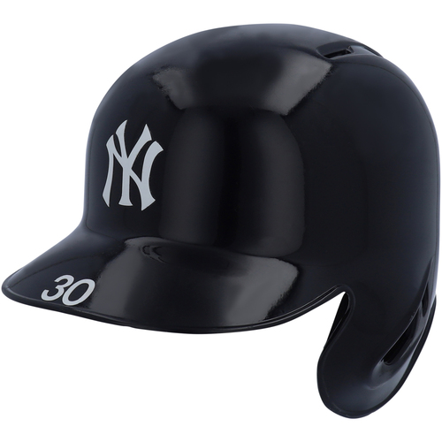 Photo of Edwin Encarnacion New York Yankees Game-Used Batting Helmet worn during 2019 ALDS Game 2, ALCS Game 3, and ALCS Game 4