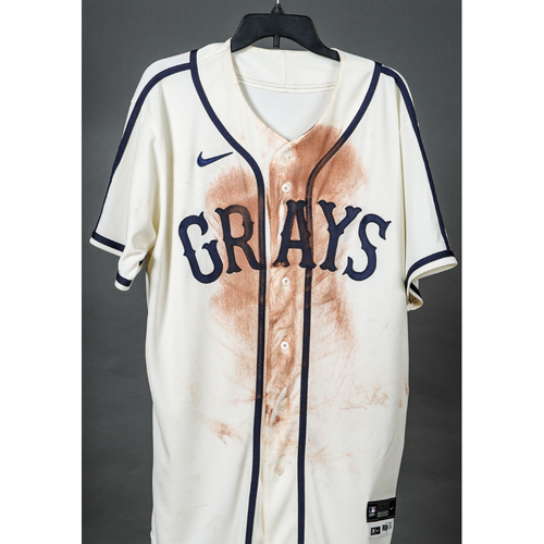 Photo of Game-Used Homestead Grays Jersey - Anthony Alford - PIT vs. STL - 8/27/2021