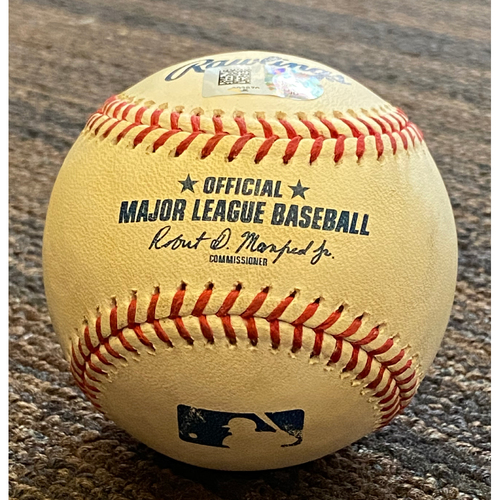Photo of Ramon Urias: Baseball - Game Used (RBI Double - 8/24/21 vs. Angels)