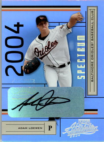 Photo of 2004 Absolute Memorabilia Signature Spectrum Gold #29 Adam Loewen/100