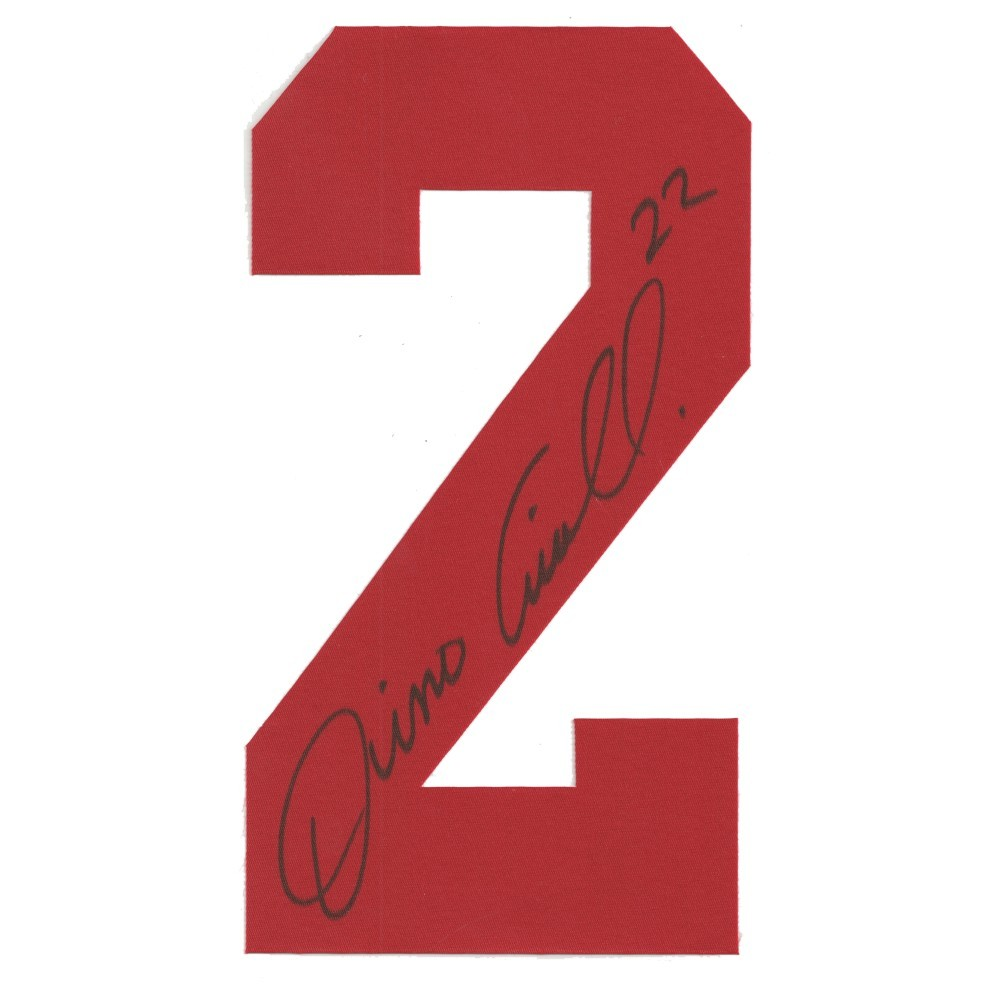 Dino Ciccarelli Autographed Detroit Red Wings Twill Jersey Number
