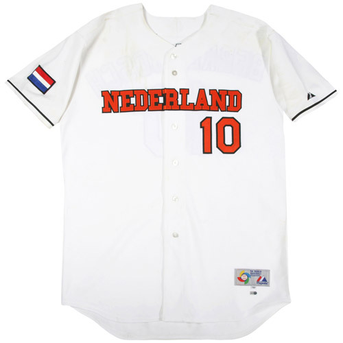 Photo of 2006 Inaugural World Baseball Classic: Kenny Berkenbosch (Netherlands) #10 Game-Used Home Jersey