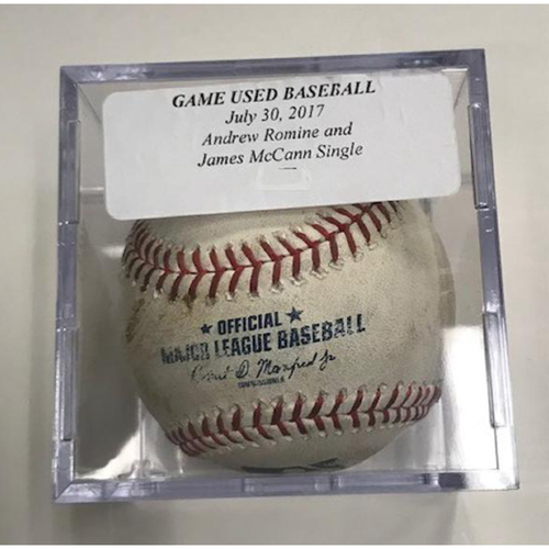 Photo of Game-Used Baseball: Andrew Romine Single and James McCann Single