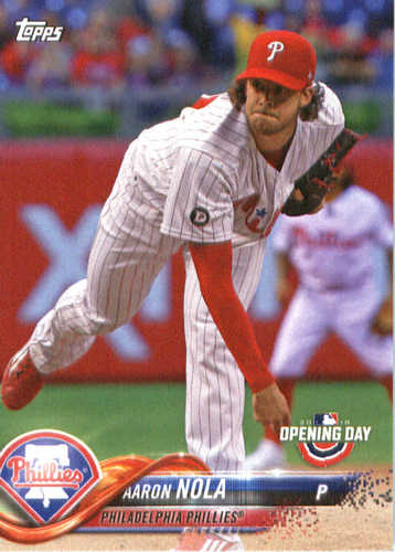 Photo of 2018 Topps Opening Day #81 Aaron Nola