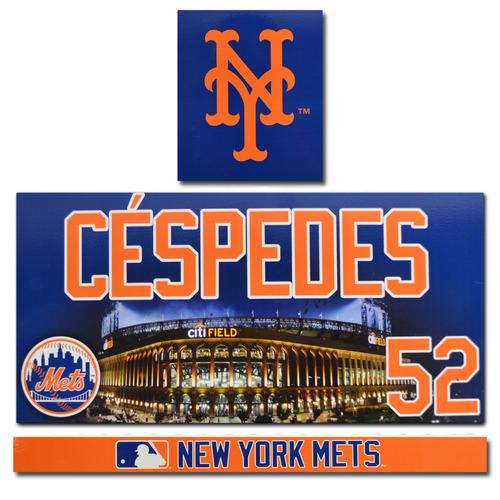 Photo of Yoenis Cespedes #52 - Game Used Locker Nameplate - 2017 Season