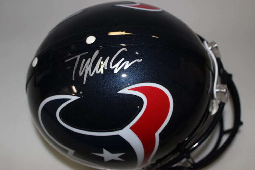 NFL - TEXANS TYLER ERVIN SIGNED TEXANS PROLINE HELMET