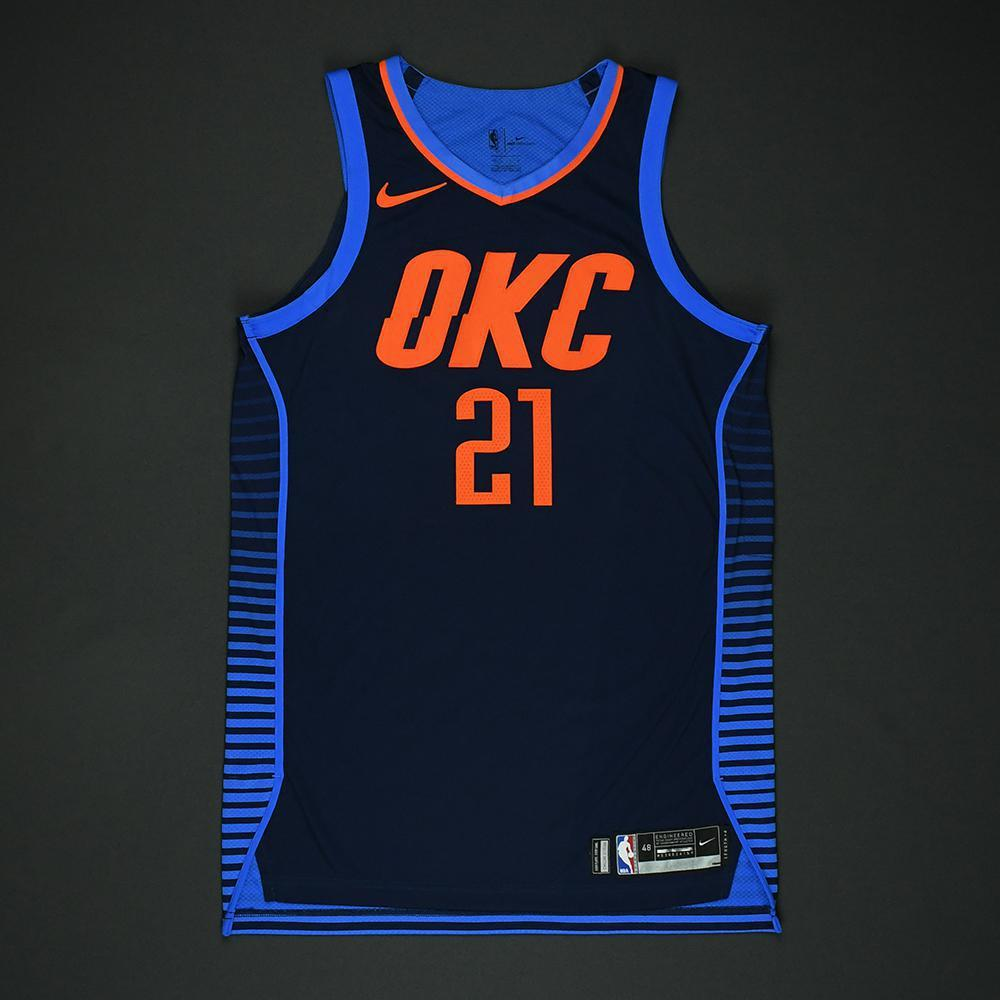 Andre Roberson - Oklahoma City Thunder - NBA Christmas Day '17 Game-Worn Jersey