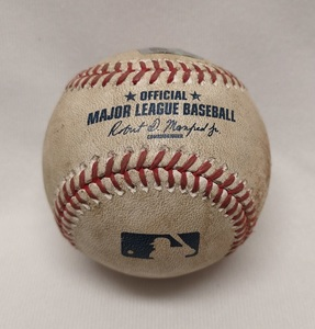 Kevin Pillar Game Used Baseball - Blue Jays Authentics