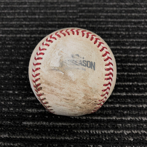 Photo of 2016 Postseason Game Used Baseball - NLDS Game 4 vs. Chicago Cubs - John Lackey to Conor Gillaspie - Single to 3rd Base